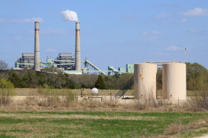 NRG Limestone power plant and gas well