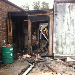 The blaze destroyed one of the three buildings at the Quba Islamic Center Friday morning.