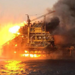 According to Pemex's official Twitter account, the platform, called Abkatun Permanente, caught fire early Wednesday in Campeche Sound in the Gulf of Mexico.