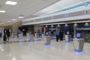 Southwest has opened an expanded ticketing area in the new international terminal at Hobby Airport.