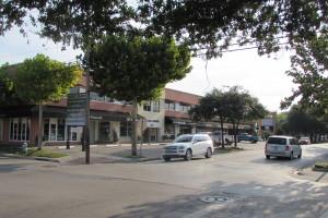 Rice Village in Houston, corner of University and Morningside
