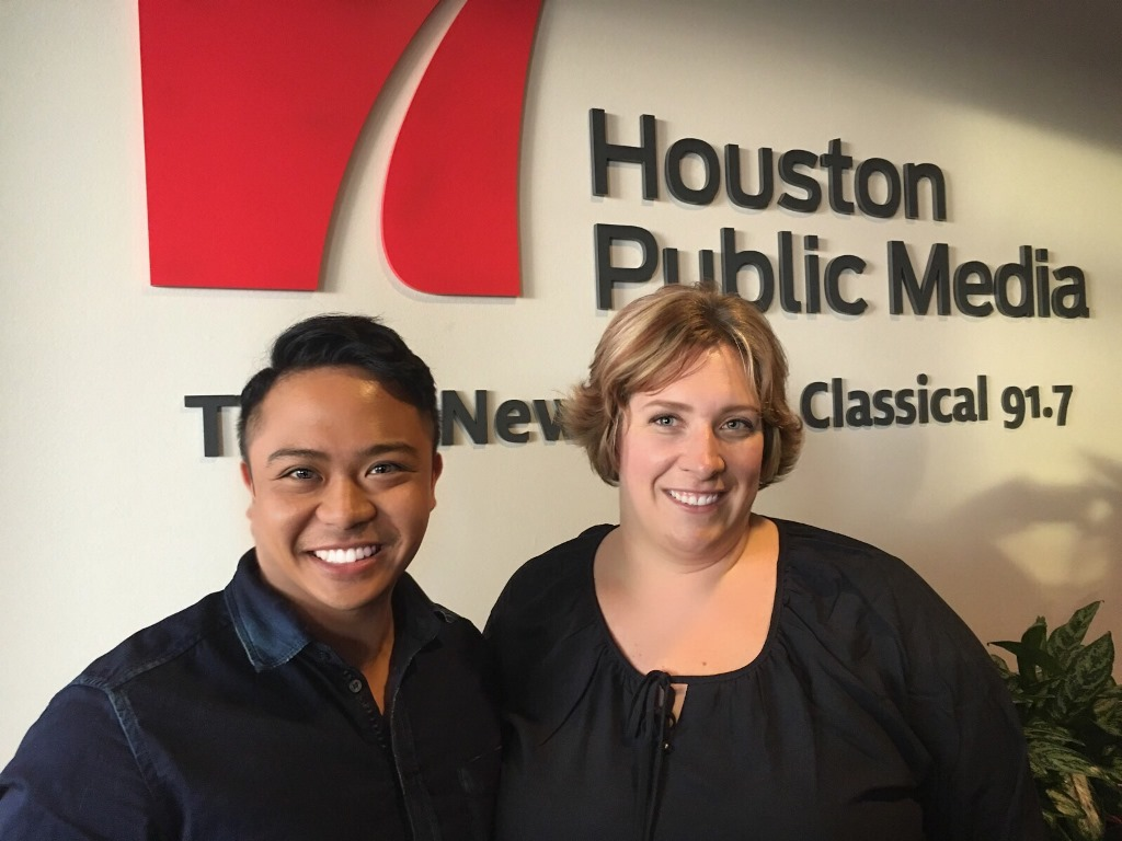 Picture of Ryan Frenk (l) and Amy Solberg (r) of Cantare Houston