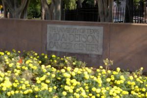 sign reads The University of Texas MD Anderson Cancer Center