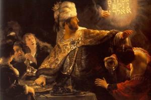 Belshazzar's Feast - Rembrandt