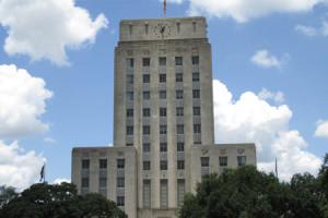 Outside of Houston City Hall