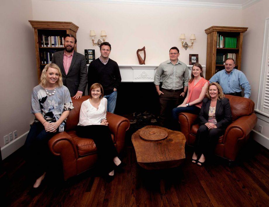 Group photo of members of the Irish Network Houston