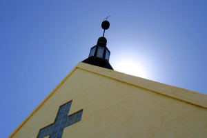 church/sky view