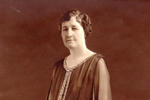Portrait of Miriam Amanda Wallace standing