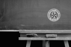 HISD seal on chalkboard