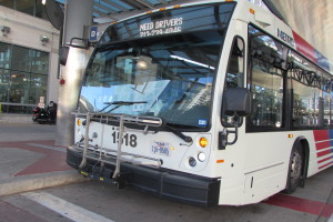 Bus at Metro's downtown transit center.