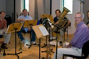 Paragon Brass in the Geary Performance Studio in 2012