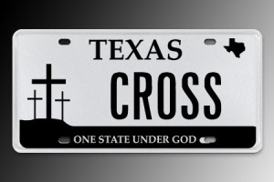One State Under God license plate