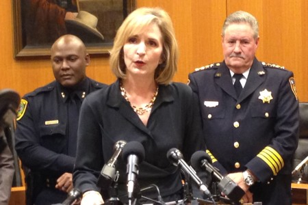 Harris County District Attorney Devon Anderson explained some of the initiatives included in the plan will involve providing more pretrial supervision and advice to people charged with low-level and non-violent felonies.