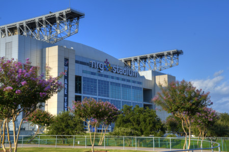 the front of NRG Stadium
