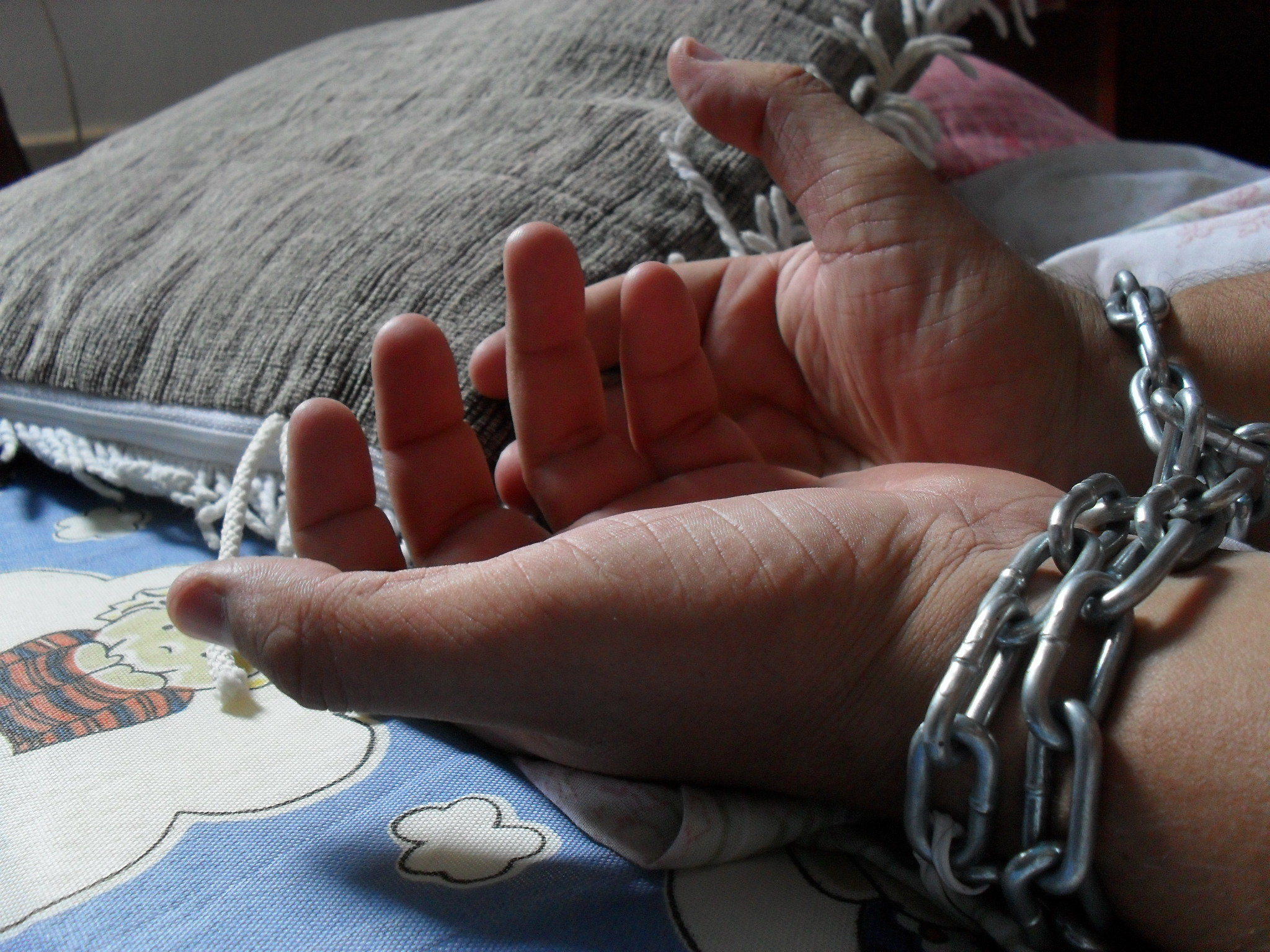 Generic image showing bound hands
