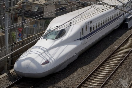 a still photo of the Japanese Shinkansen