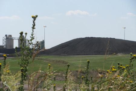 coal ash mound