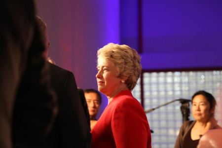 Side view of mayor parker
