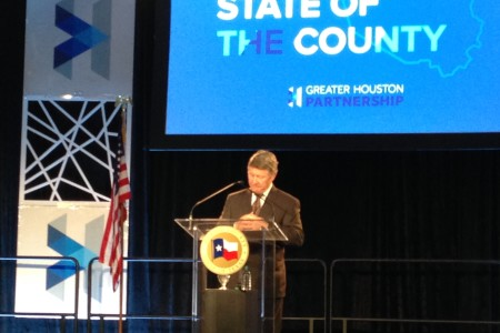 Harris County Judge Ed Emmett delivered his ninth State of the County Address at Houston's NRG Center and underlined that improving the county's transportation is one of its main challenges.