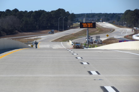 The newest section of the Grand Parkway