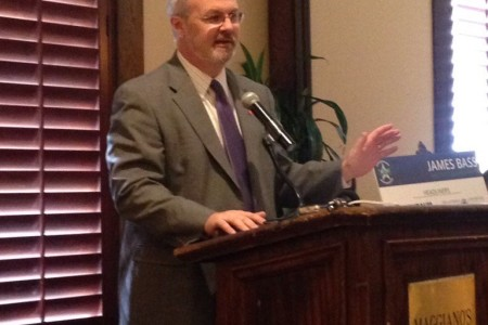 TxDOT Executive Director James Bass discussed congestion relief initiatives before the Transportation Advocacy Group in Houston.