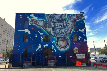 New Mural Pays Homage To Space City With Cosmic Canine