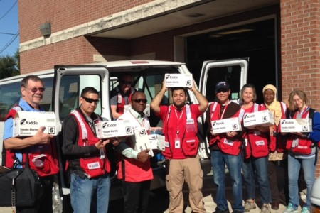 Volunteers with the Red Cross visited 30 homes across southwest Houston.