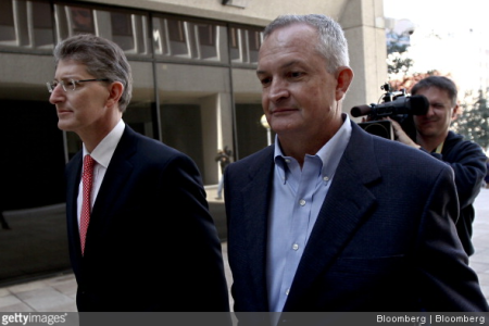 Robert Kaluza and lawyer walking to court