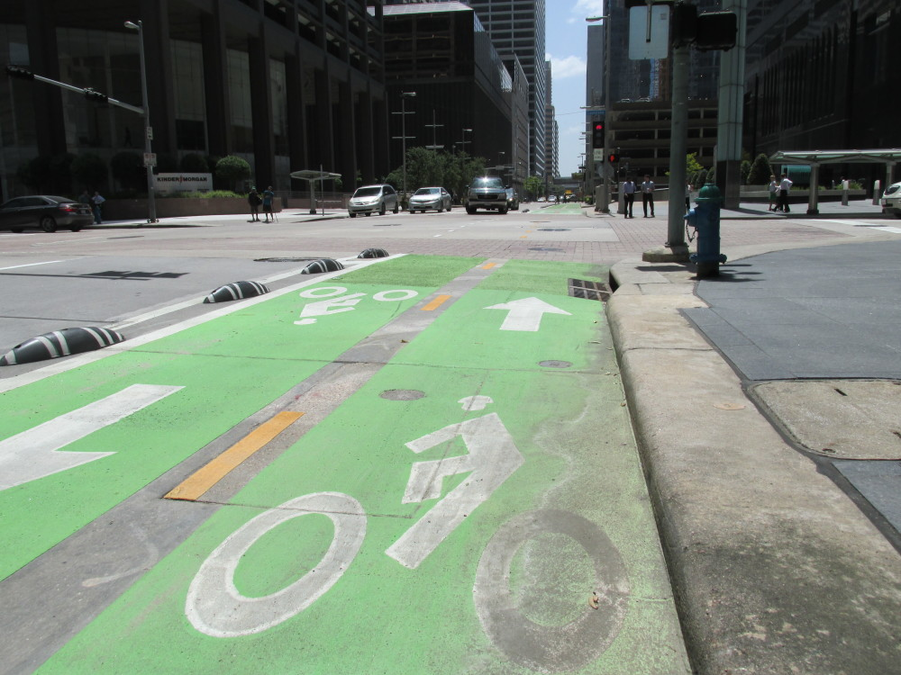 downtown bike lane