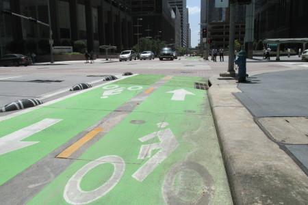 downtown bike lane
