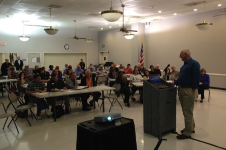 Gary Miller, EPA Remedial Project Manager for the San Jacinto River Waste Pits, presented a report on the agency's plan for the site during a community meeting held at Channelview's Martin L. Flukinger Community Center on February 17th 2016.