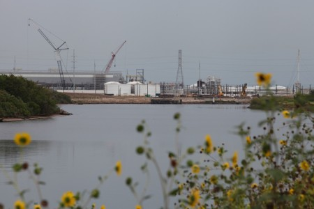 Dow chemical plant along the Brazos River