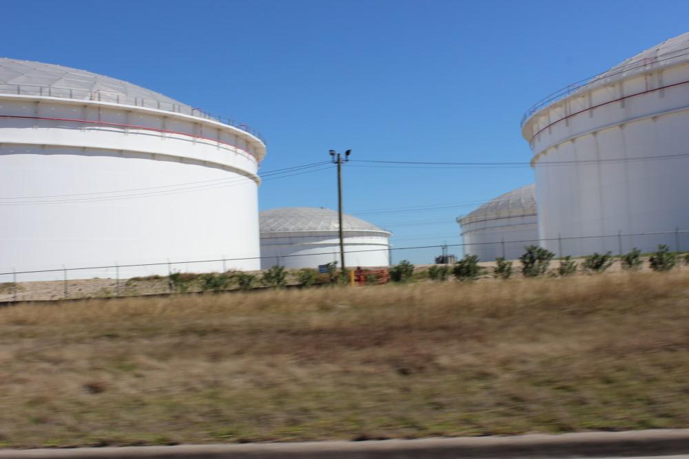Crude Oil storage tanks
