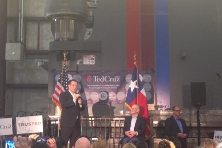 Ted Cruz rally in Houston before the  final GOP debate before Super Tuesday.