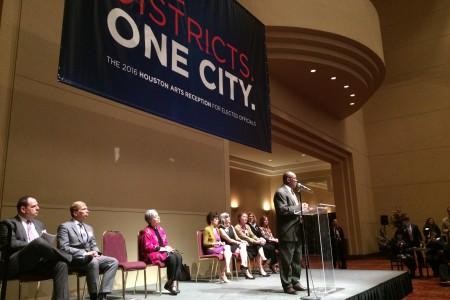Mayor Turner delivering speech