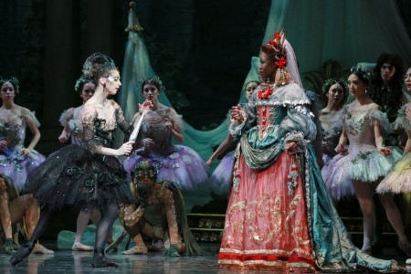 The Sleeping Beauty: Melody Mennite (Carabosse), Lauren Anderson (the Queen), and Artists of Houston Ballet