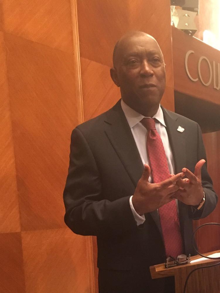 Mayor Sylvester Turner speaking