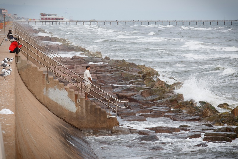 seawall in Galveston
