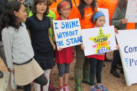 Parents and students rallied against standardized testing earlier this month and encouraged others to boycott state exams.