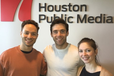 Houston Ballet dancers Oliver Halkowich, Connor Walsh and Melody Walsh