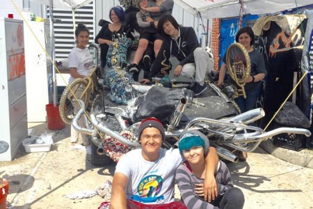 Picture of Reagan High School Students Creating Their Art Car