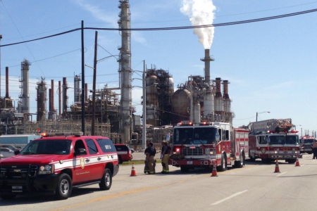 HFD outside of the LyondellBasell plant