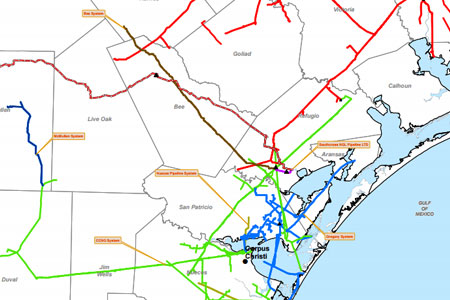 pipeline map Southcross Energy Partners
