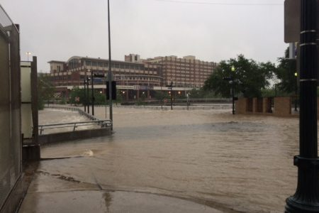 Downtown Houston Flooding On Monday Mimicked Last Memorial Day