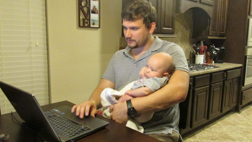 Daniel Porter, 32, is earning his masters in education from WGU Texas. He said that the focus on skills and content lets him go at his own pace  and also care for his baby daughter, Lucy.