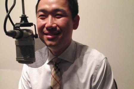 Tony Kong at the mic
