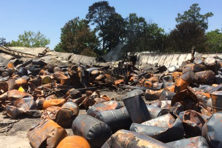 EPA, TCEQ Respond To Chemical Spill After Houston Warehouse Fire
