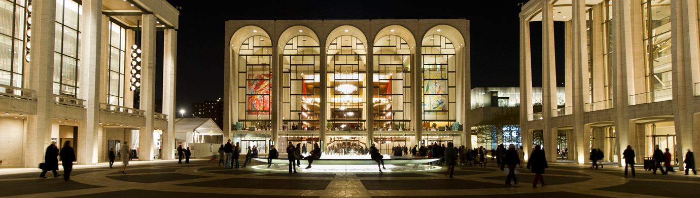 The Metropolitan Opera House in Lincoln Center, New York City.