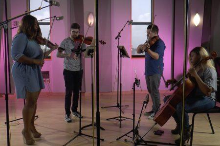 Divisi Strings in Houston Public Media's Geary Performance Studio