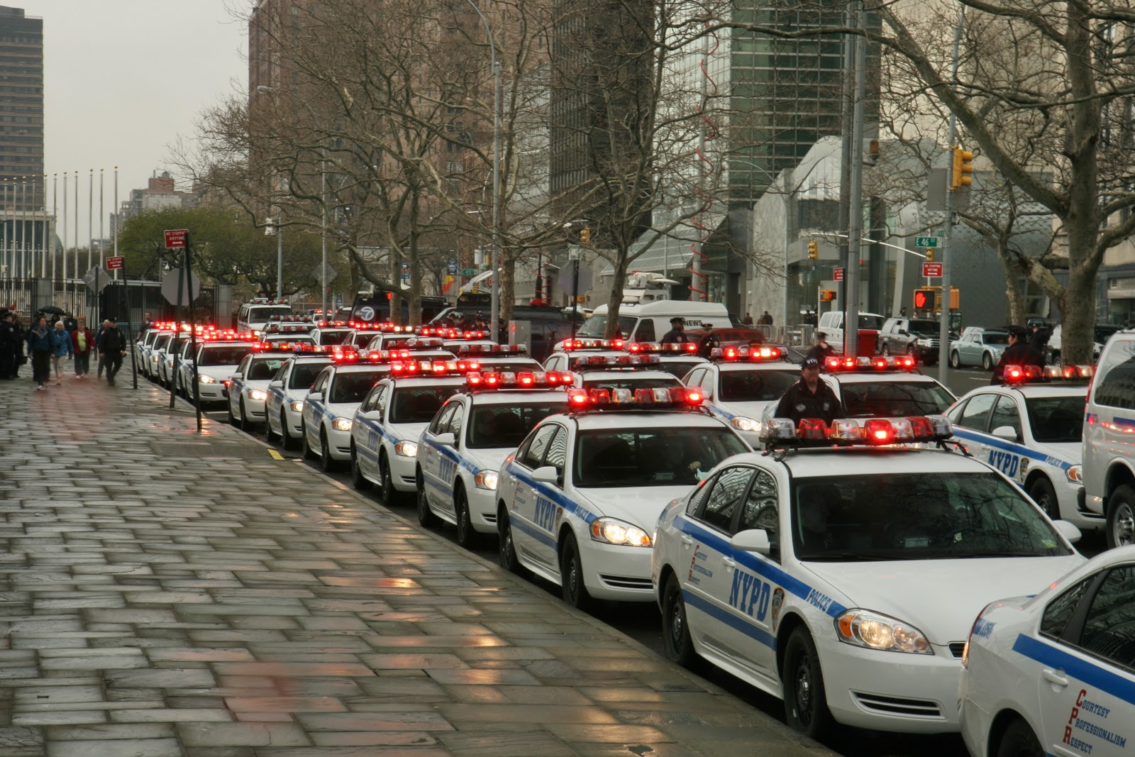 NYPD police assets mobilize for HS/DNDO Securing the Cities full-scale exercise, Tuesday April 5.